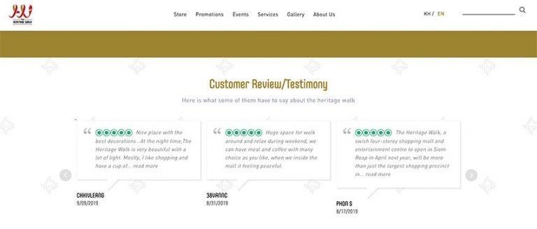 TripAdvisor Review on Website